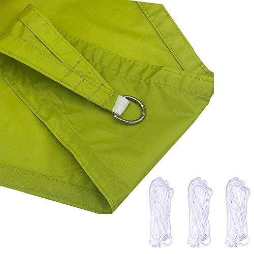 Toldo Vela de Sombra Triangular de protección Rayos UV Transpirable Amarilla Verde Resistente Impermeable para Patio Exteriores jardín 3X3X3m
