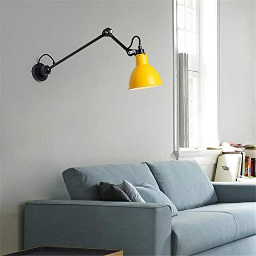 CC6 Plafondlamp Creatief Geel Rocker Wandlamp Led Nordic lange Arm Lezen Wandlamp Eenvoudige Slaapkamer Studie Woonkamer Wandlamp