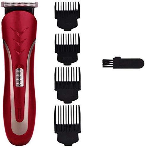 Pelo tijeras de corte de pelo Trimmer Clipper de pelo recargable profesional pelo de la herramienta de corte de la máquina hombres maquinilla eléctrica sin cable cortador de pelo rojo tijeras