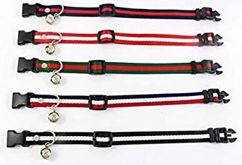 AMDXD Harnais et Colliers de Chien Rouge Vert Polyester Harnais Laisses Set pour Chats Petite Cloche Ray¨¦e S