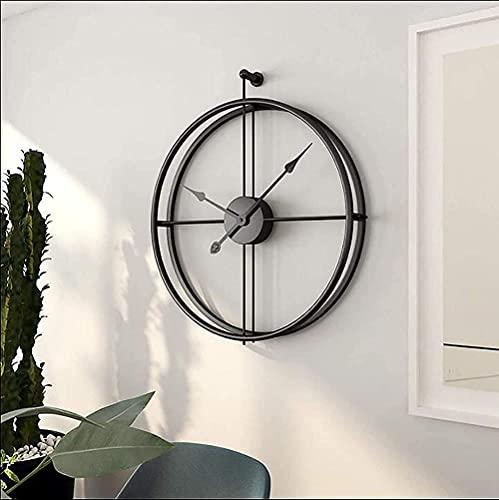 Reloj de pared industrial europeo silencioso de 20 pulgadas de diámetro 50 cm
