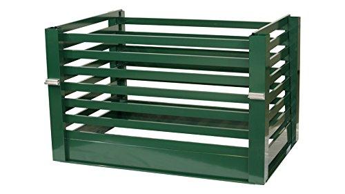 Aluminium Komposter Metall Kompostbehälter in 3 Farbvarianten 1m x 1,5m 1450L (moosgrün)