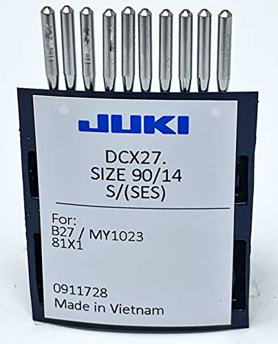 Juki Brand - Serger/Overlock Industrial Sewing Machine Ball Point Needles - Size (14) - (Tray of 10 Needles) Juki Genuine Part - for Professional Use.