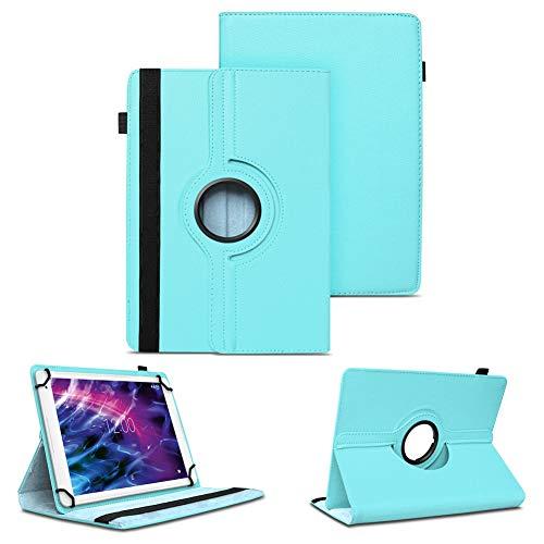 NAUC Tablet Schutzhülle für Medion Lifetab P10612 P10610 P10603 P10606 P10602 X10605 X10607 X10311 P9702 X10302 P10400 P10356 Hülle Tasche 360° Drehbar Hülle, Farben:Türkis