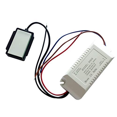BIlinli Interruttore a sfioramento Acceso/spento a Specchio 220V 300W dimmerabile per Bagno antiappannamento per Lampada