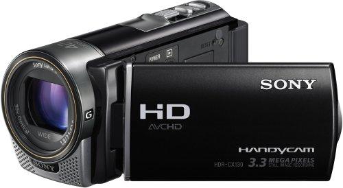 Sony HDR-CX130E Full HD Camcorder (7,6 cm (3 Zoll) Display, bildstabilisiert, Exmor R Sensor) schwarz