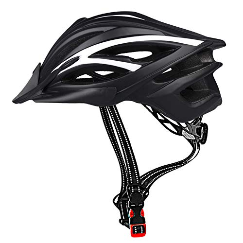 CIGNA Bike Helmet for Adults  Adjustable Size with Detachable Visor LED Safety Light Lightweight Design Bicycle Helmet Men Women