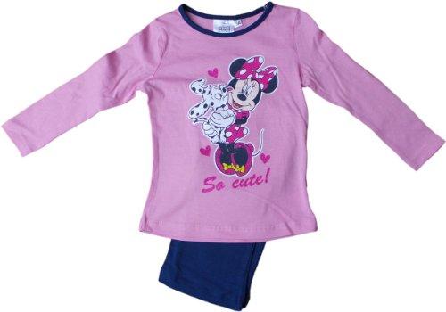 Disney Minnie Maus Schlafanzug - Minnies Cooles Hundi - Rosa/Blau