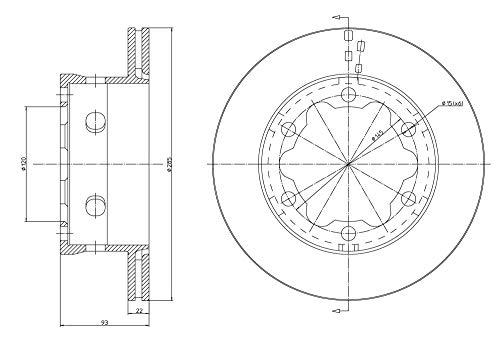 metelligroup 23-0645 - Disque de Frein