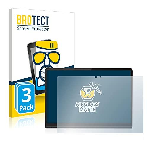 BROTECT Protector Pantalla Cristal Mate Compatible con Lenovo Yoga Tab 13 Protector Pantalla Anti-Reflejos Vidrio, AirGlass (3 Unidades)