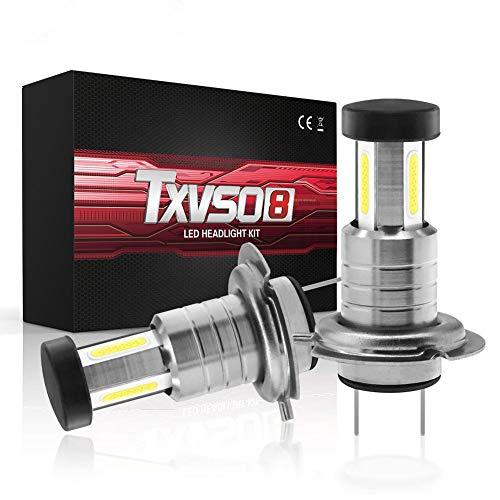 Calistouk 2Pcs H7 110W 30000LM LED Globos de conversión de faros para automóviles Canbus Bulbs Beam 6000K Kit