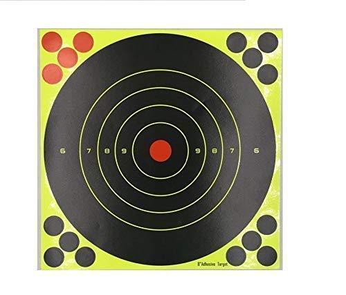 25 Pack - 8' 'Stick & Splatter' - Adhesive splatterburst Shoot-N-C Shooting...