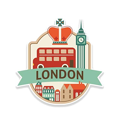 chenche Car stickers interesting travel London UK England decal PVC motorcycle car stickers 13CM*13CM car stickers
