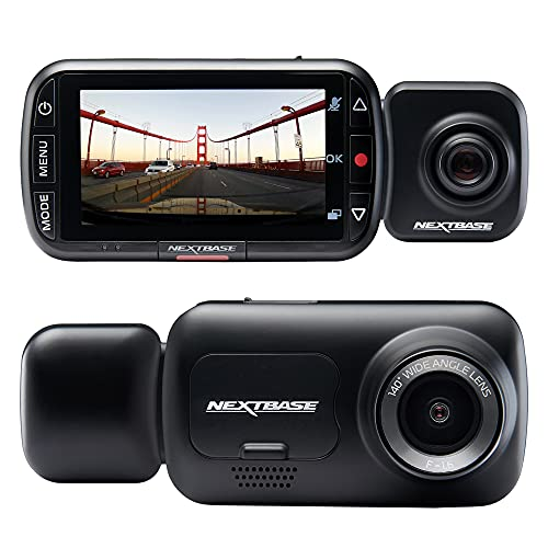 Nextbase 222x Front and Rear Dash Cam Full 1080p/30fps HD Recording in Car DVR Cam - 140° 6 lane Wide Viewing– Intelligent Parking Mode- Polarising Filter Compatible- G-Sensor Motion Detection- Hidden
