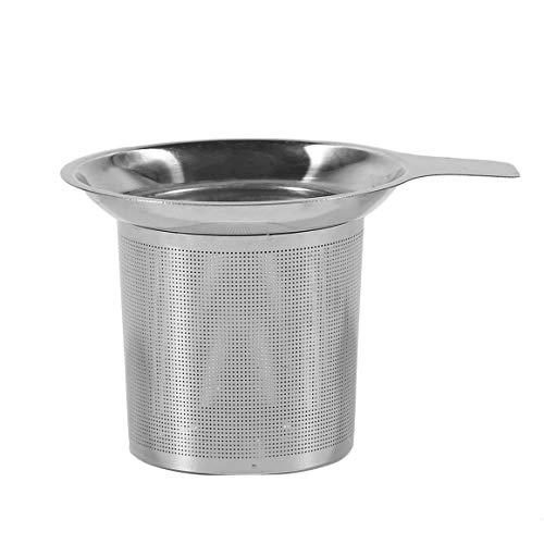 Práctico colador de té Filtro de acero inoxidable Infusor de té Filtro de colador Utensilios para beber Té Accesorios para beber Uso de cocina - Plata