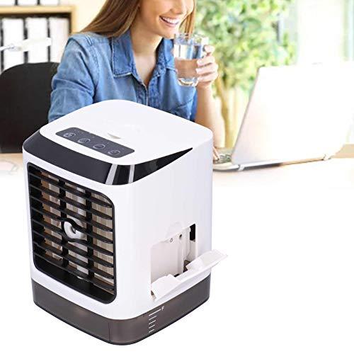 01 Enfriador de Aire, Mini Enfriador de Aire 6-15W con indicador de Noche para Oficina para Dormitorio para el hogar para Sala de Estar