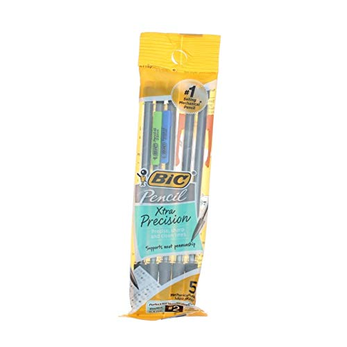 Bic Xtra Precision Fine Point Mechanical Pencils, 0.5mm 5 ea (Pack of 12)