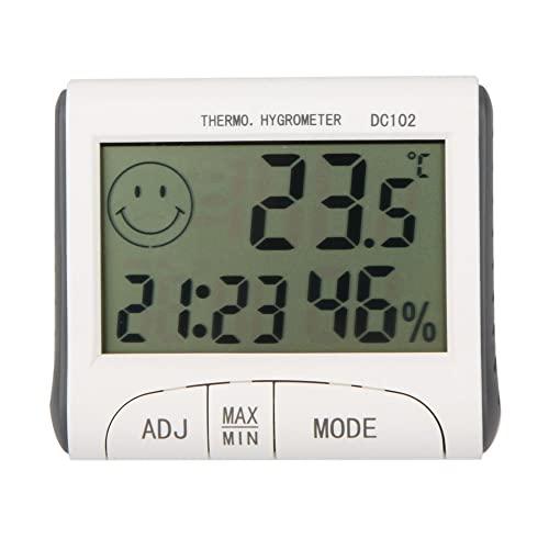 Btuty- Termometro Digitale LCD, Igrometro, Misuratore di Umidità, con Magnetico.