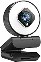 Streaming Webcam with Light - HD 1080P Autofocus Computer Camera with Microphone USB Camera with Digital Zoom for Xbox|PC|Desktop|Laptop|Gaming|Video Calling