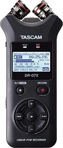 Tascam DR-07X Stereo Handheld Digital Audio Recorder and USB Audio Interface , Black