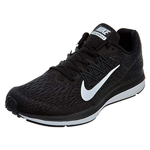 Nike Men's Air Zoom Winflo 5 Running Shoe, Black/White-Anthracite, 10