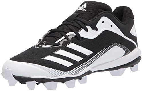 adidas Men's EG6572 Baseball Shoe, Black/White/White, 12