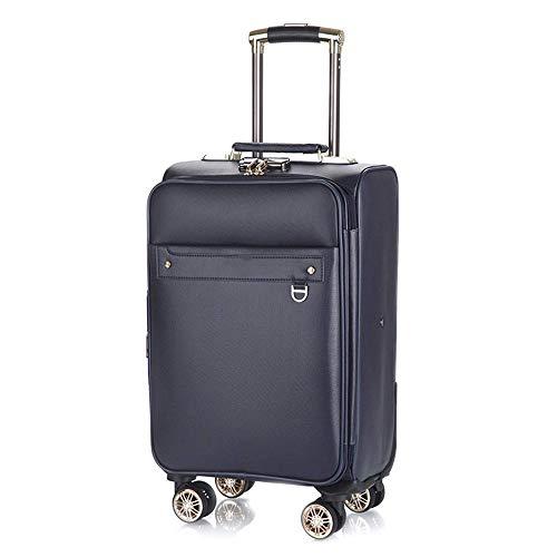 GXWLWXBB Business bewegliche Stab-Boxen, Universal-Rad-Gepäck-Koffer, Massive Anti-Kollisions-24-Zoll-PU-Material-Verriegelungs-Kasten