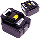 FengWings 2PCS Batterie BL1430 14.4V 3000mAh Remplacer Batterie Pour Makita Batterie BL1430 BL1415...