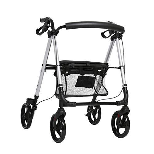 Rollator Wandelframe met remmen en stoel, Senior Winkelwagen