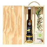 Lote Gourmet Regalo Oleum con árbol olivo natural pequeño, aceite de oliva virgen extra y crema para untar