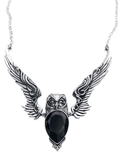Alchemy Gothic Large STRYX Owl Pendant Necklace