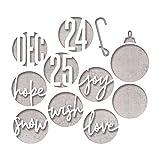 Sizzix Troquel Sizzix Thinlits Die Set 12 piezas - Palabras Navideñas en círculo
