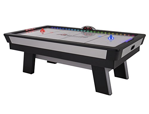 Find Cheap Atomic Top Shelf 7.5' Air Hockey Table with 120V Motor for Maximum Air Flow, High-Speed PVC Playing Surface for Arcade-Style Play and Multicolor LED Lumen-X Technology to Illuminate Play