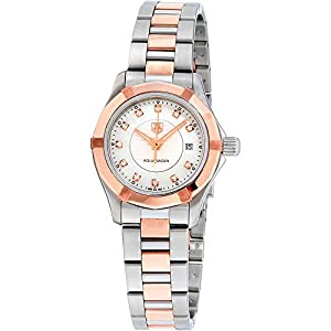 Tag Heuer Aquaracer Mother of Pearl Dial 18kt Rose gold and Stainless Steel Ladies Watch WAP1451BD0837 image