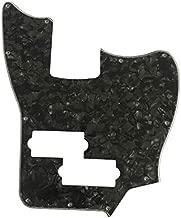 Custom Guitar Pickguard For Squier Jaguar Bass SS Short Scale (4 Ply Black Pearl)