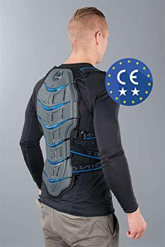 Revit! Tryonic Rückenprotektor Feel 3.7, Farbe grau blau, Größe M