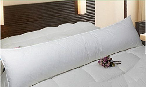 Bedding Home Super Comfy Cuddly Large Extra Filled Bolster Pillows Non-Allergic (Double 4.6Ft)