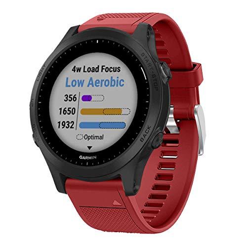 VICARA Compatible con Garmin Forerunner 945 Correa, QuickFit Suave Silicona Correas de Reloj Compatible Garmin Forerunner 945 Reloj