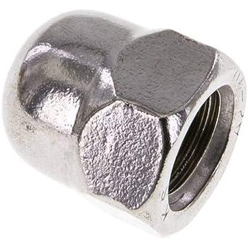 hoch Hutmutter DIN 1587 M 12 Edelstahl A2 Werkstoff:Edelstahl A2 d:M 12mm dk:18,0mm h:22mm s:19