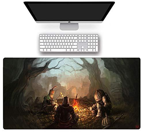 Alfombra de ratón antideslizante Dark Soul Series grande Gaming Mouse Pad Speed Computer Keyboard mate Natural Rubber Anime Gamer Desk Mate