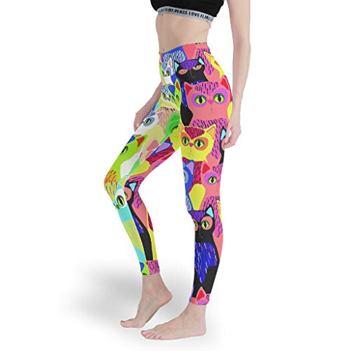 Mädchen Fun Leggings Hohe Taille Yoga Hosen Glatt Capris Tights für SchuleAll Kinds of White m