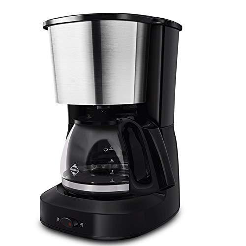 No logo T-C Bean Cup Filterkaffeemaschine 650ml Kaffeemaschine mit Anti-Tropf-Funktion, Filterkaffeemaschine, Anti-Drip-System, Permanent Wiederverwendbare Filter, Schwarz 600ml, 590W warme Funktion