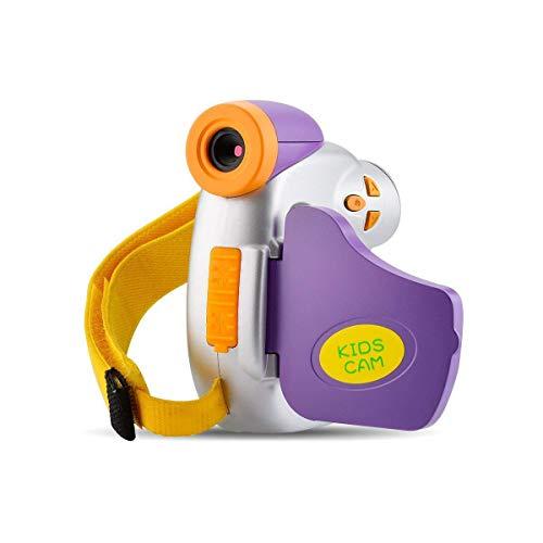Cámara para niños Video 1080P Videocámara digital Full HD para regalos para niños Juguetes Cámara con divertido marco de fotos para niños de 3 a 9 años Grabadora recargable para niñas