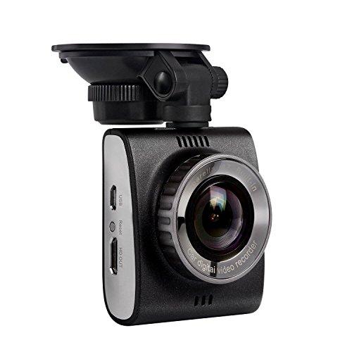 AUSDOM AutoKamera Auto Dashcam 1296P HDR DVR 180 ° Weitwinkel G-Sensor Bewegungserkennung Nachtsicht Recording Unterstützt Micro-SD/TF-Karten