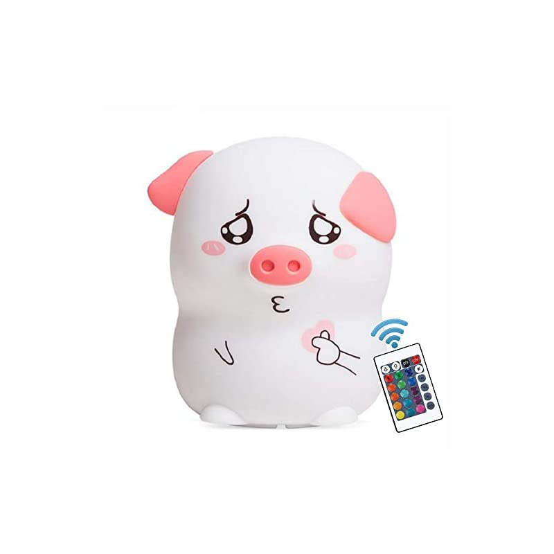 crib bedding and baby bedding new exotic led nursery night lights for kids cute animal silicone baby night light with touch sensor cute pig night light for baby toddler girls best gifts for adult boys girls kids (cute pig)