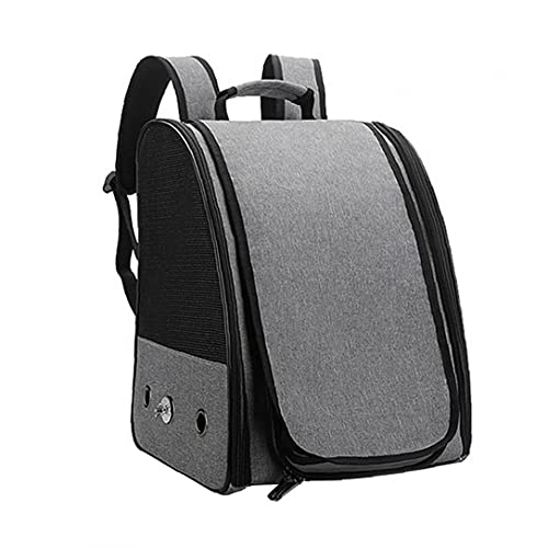 EElabper Bird Travel Carrier, Bird Backpack, Travel Parrot Cage Portable Lightweight Breathable for Parrot Pet Birds Grey