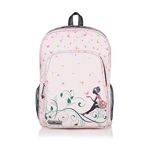 Shagwear Zaino, Borse da scuola per studenti delle scuole medie Bambino Casual Daypacks Laptop Bookbag Travel Backpack: (Farfalla/Butterfly Oasis)