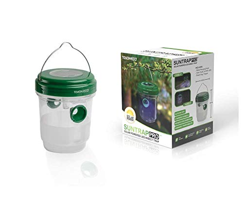 Touch Of ECO Solar LED Mosquito & Insects Trap - Effective and Reusable Outdoor Trap for Trapping Mosquitos & Insects - Bright UV LED Light