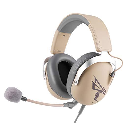 PXYUAN Casque de Jeu Son Surround virtuel 7.1 - Casque Confortable avec Suppression de Bruit - avec Micro pour PS4 Xbox One - pour Ordinateur Portable, PC, Mac, Smartphone