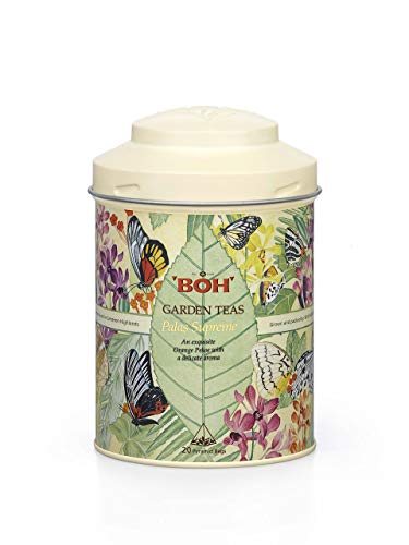 BOH Palas Supreme Garden Black, 1 Canister, Herbal Infusion, Invigorating and Refreshing, Exquisite and Delicate 20 Pyramid Tea Bags